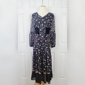 NWT I Madeline Floral Long Sleeve Maxi Dress